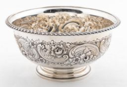 1938 REED & BARTON STERLING SILVER FOOTED BOWL