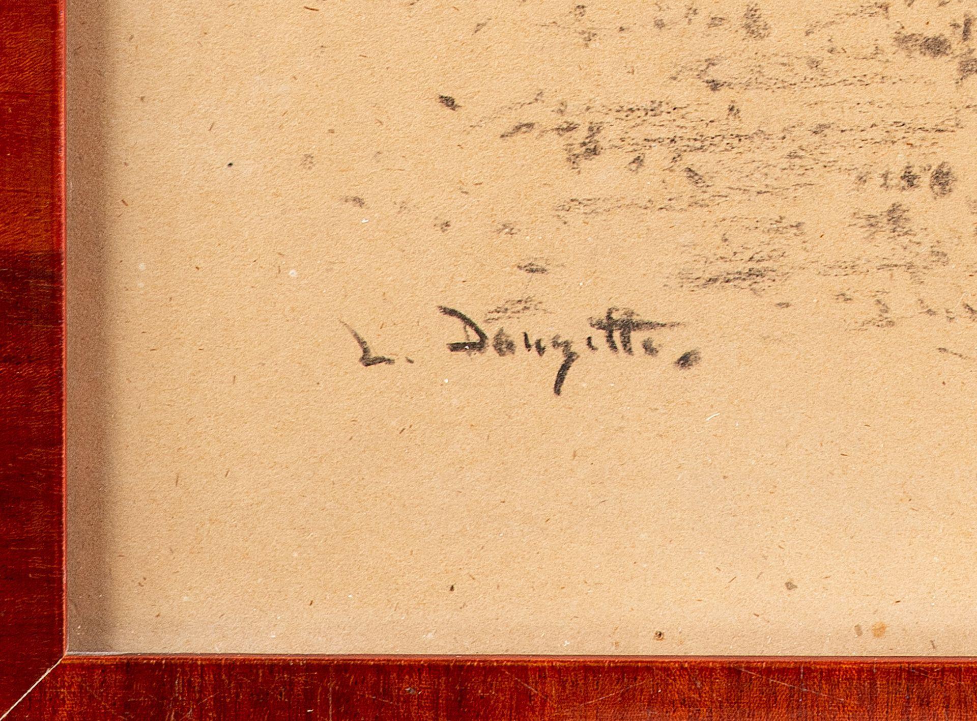 Louis Douzette – Der Liebesbrief. um 1905. - Image 4 of 4