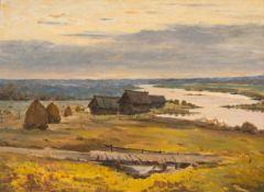 Elisabeth Büchsel – Flusslandschaft am Morgen.