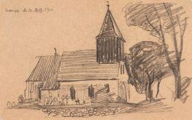 Lyonel Feininger – Kirche von Groß Zicker auf Rügen (Church of Groß Zicker on Rügen).