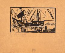 Lyonel Feininger – Wrack. gestrandetes Schiff.