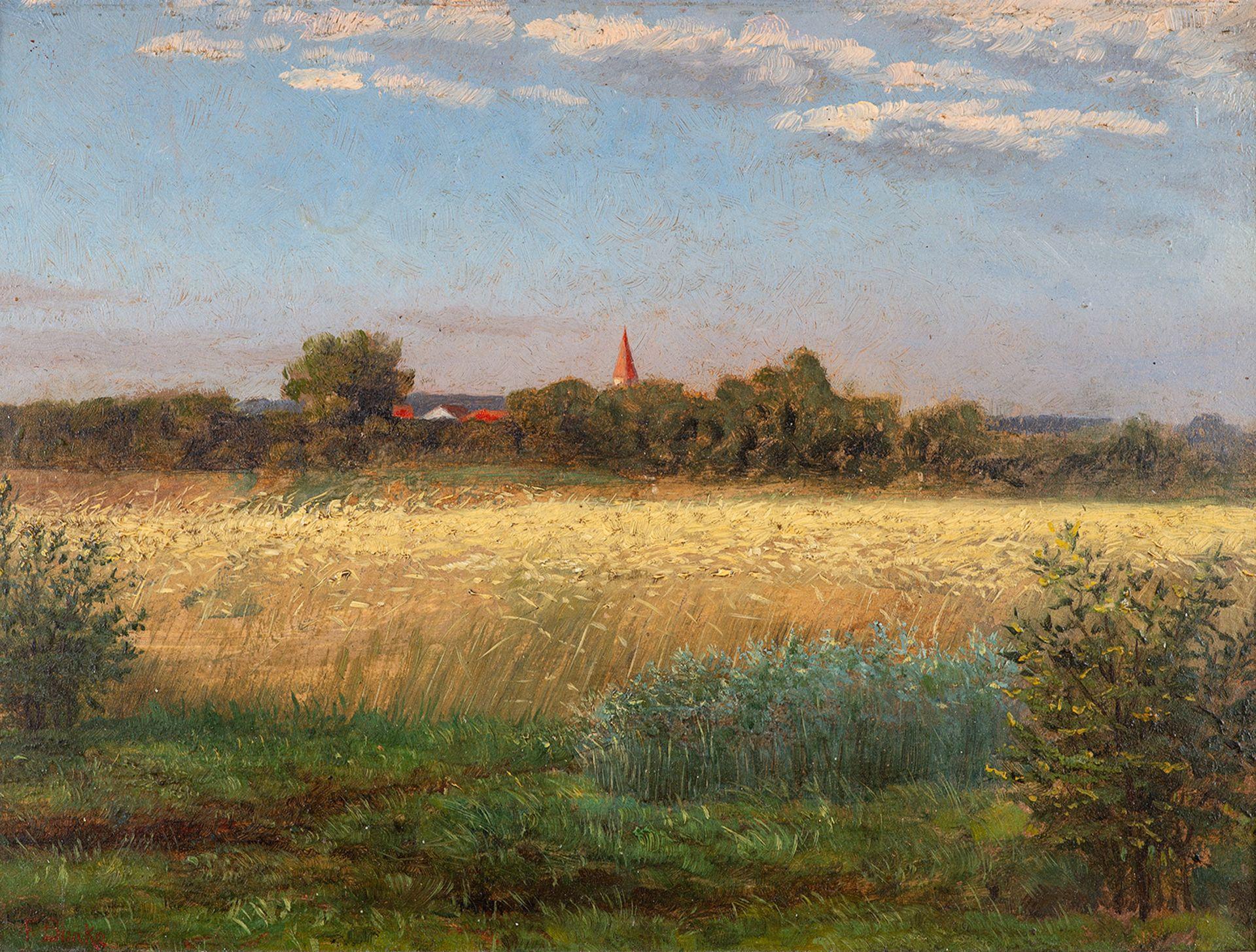 Franz Bunke – Blick auf Schwaan. um 1890.