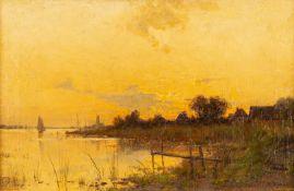 Walter Moras – Abendstimmung am Bodden. um 1880.