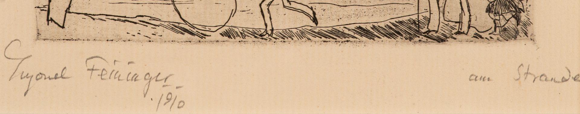 Lyonel Feininger – Am Strande. - Image 2 of 2