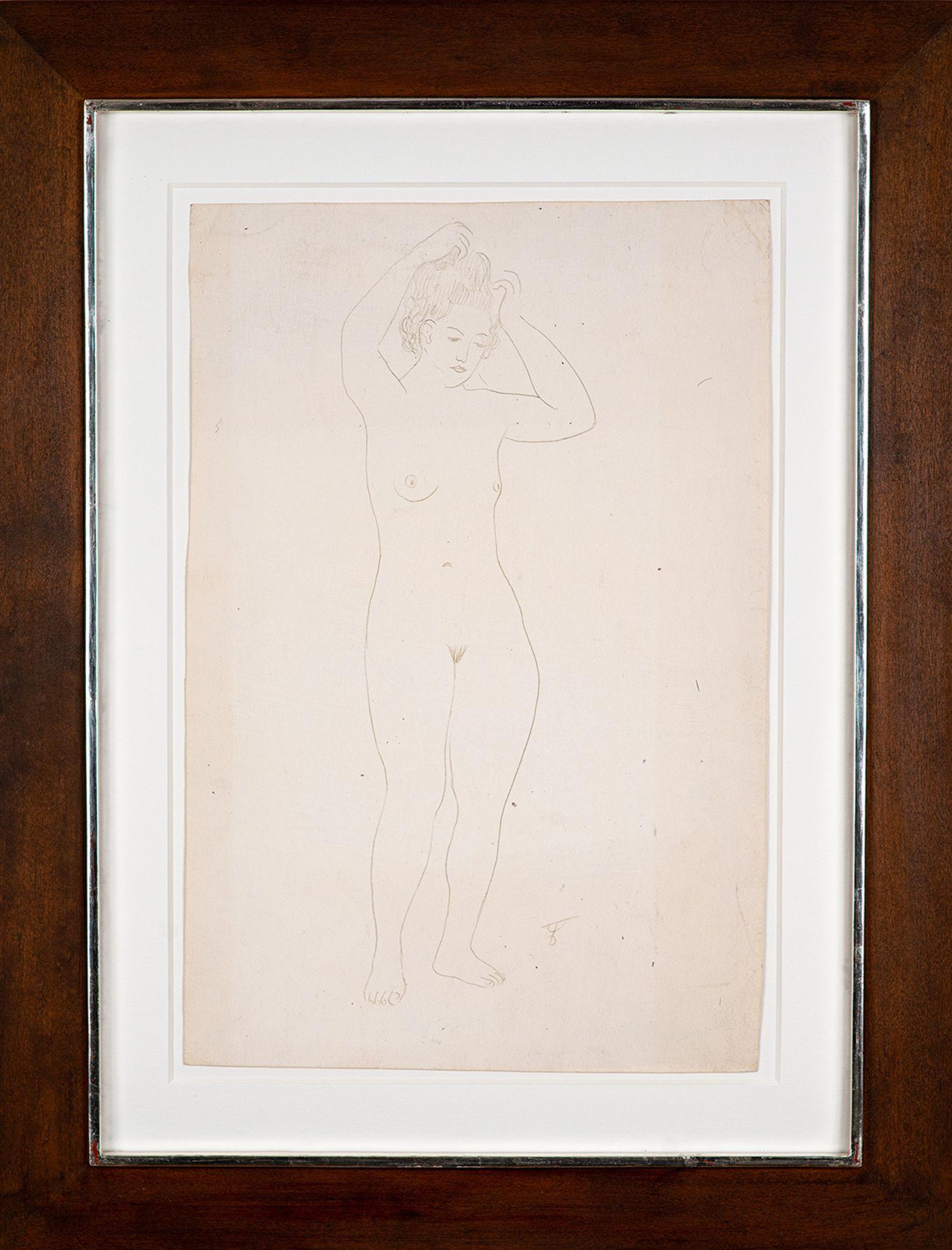 August Wilhelm Dressler – Stehender weiblicher Akt. um 1930. - Image 2 of 4