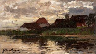 Konrad Alexander Müller–Kurzwelly – Abend am Bodden. um 1890.