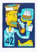 Jim Avignon – Plakat zur 42. Ahrenshooper Kunstauktion. Vorzugsdruck. 2016.