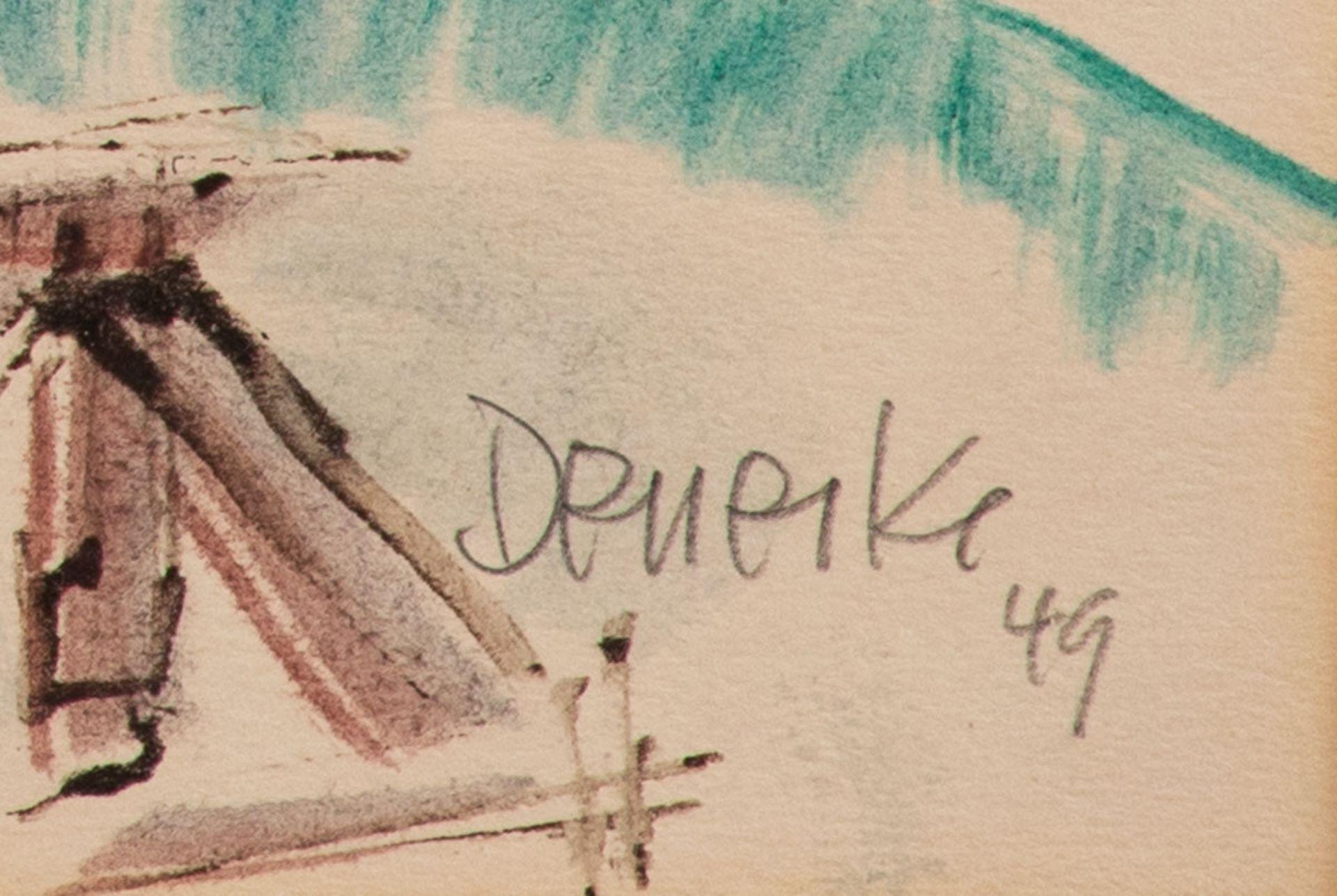 Walter Denecke – Bootswerft. Zingst a. d. Darß. 1949. - Image 2 of 2