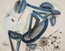 Wolfgang Frankenstein – o. T. (Abstrakte Komposition).