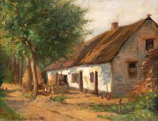 Paul Müller–Kaempff – Fischländer Katen. 1908.