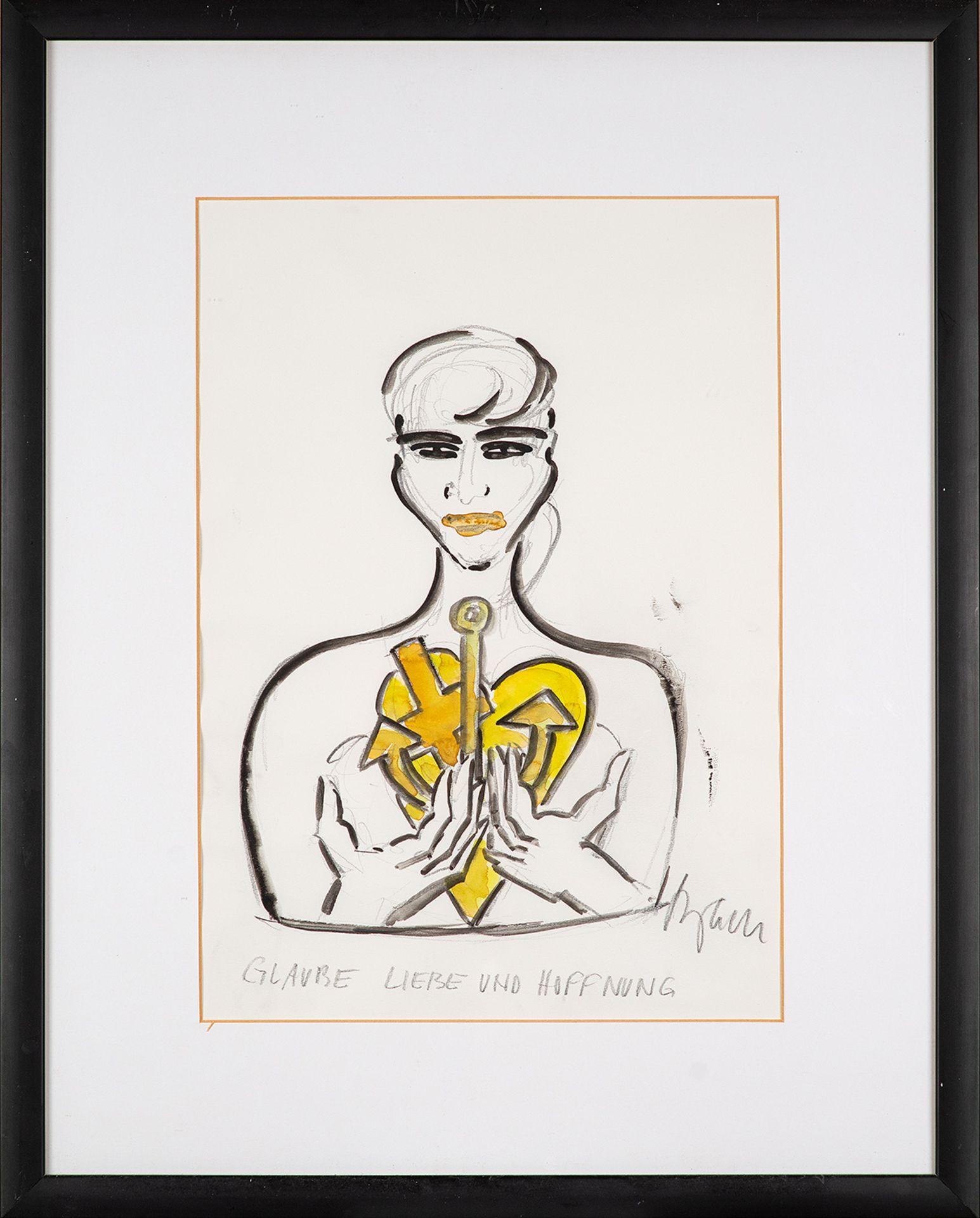 Elvira Bach – Glaube. Liebe und Hoffnung. o. J. - Image 2 of 4