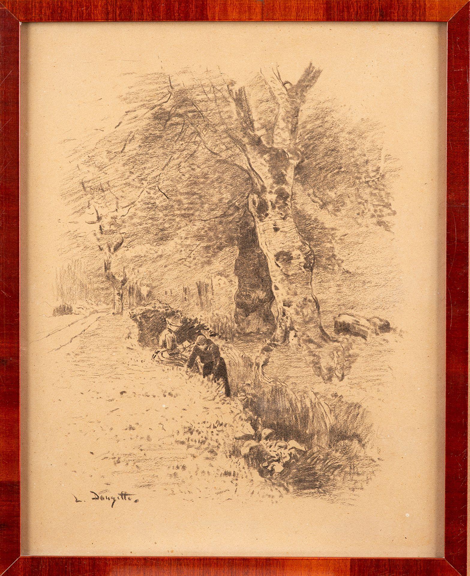 Louis Douzette – Der Liebesbrief. um 1905. - Image 2 of 4