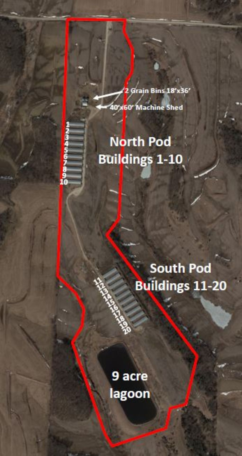 Harrison County 20,080 Pig Space Finish Site on 116 A M/L in Harrison County