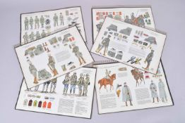 « Heer un tradition. » Uniformes de l'armée allemande 1914-1921. Onze planches grand format, fort dé