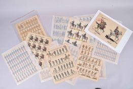 Imagerie d'Epinal. Armée française et américaine, armée italienne, turque, monténégrine. (20 planche