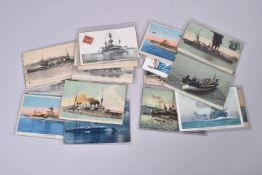 France. Marine de guerre 1ère et 2ème Guerres mondiales. (25 cartes) dont 6 en couleurs.