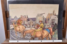"""Taquoy. (M.)  L'armée américaine dans la Grande Guerre. """"Repli de 2 soldats français dans un village"""