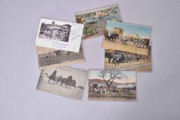 France. Campagne d'Orient. (7 cartes) en couleurs et 3 en noir.
