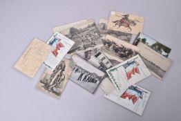 France. La cavalerie, uniformes, manœuvres, combats, drapeaux…(22 cartes) dont 11 en couleurs.
