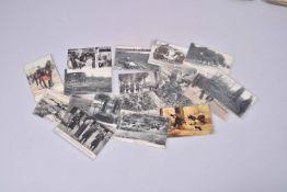 France. Service de santé, morts, blessés, tombes…(16 cartes) dont 2 couleurs et 16 en noir.
