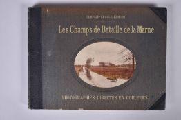 Gervais-Courtellemont. Les champs de batailles de la Marne. Important ouvrage format oblong donnant