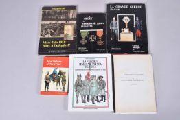 5 volumes. Army uniforms of world War I, mars juin 1918 échec à Ludendorff, croix et médaille de gue