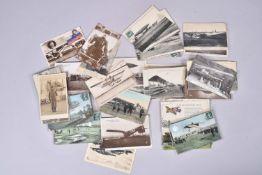 France. Aviation de guerre, aéroplanes, ballons. (96 cartes) dont 9 en couleurs. On joint quelques d