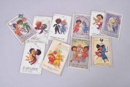 Nénette et Rintintin. Personnages mascotte en tricotine. 10 cartes en couleurs