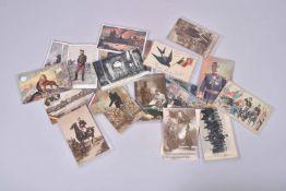 Belgique. Le roi, entrée en guerre, mitrailleurs, uniformes, villes sinistrées, ruines. 31 cartes en