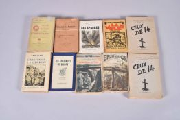 9 volumes. La mêlée, nouveaux contes véridiques des tranchées, les Eparges, au bruit des canons, c'e