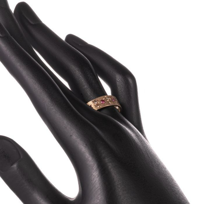 9ct Gold Art Deco Ruby Ring - Image 2 of 6