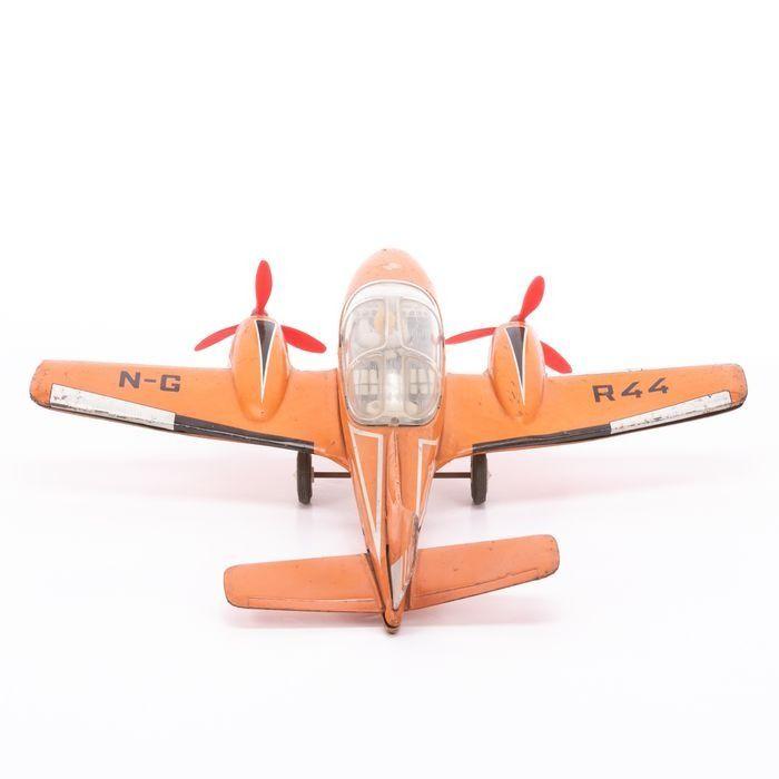 Joustra Tinplate Rallye Friction Toy Plane - Image 3 of 6