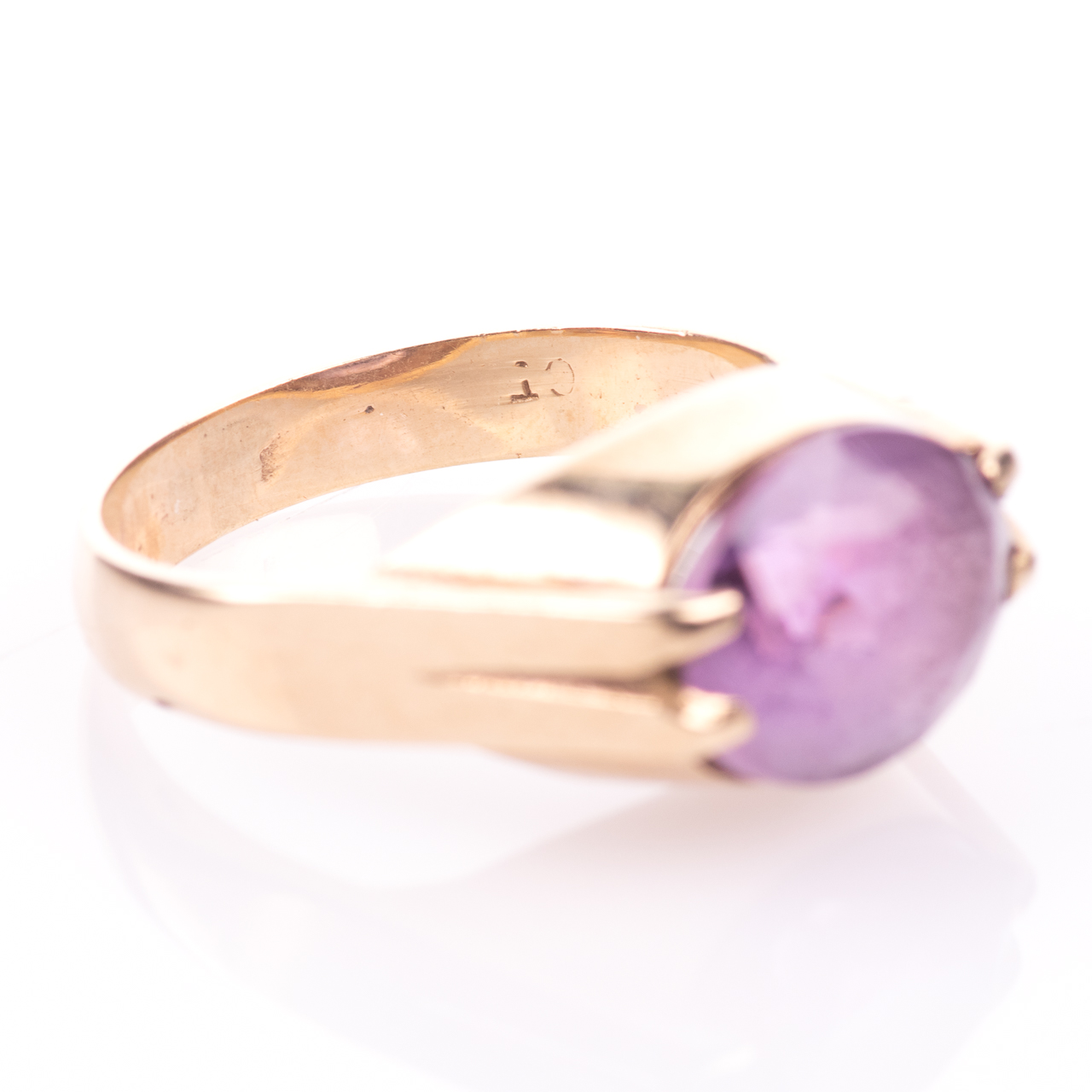 9ct Gold 3.20ct Amethyst Ring - Image 6 of 7