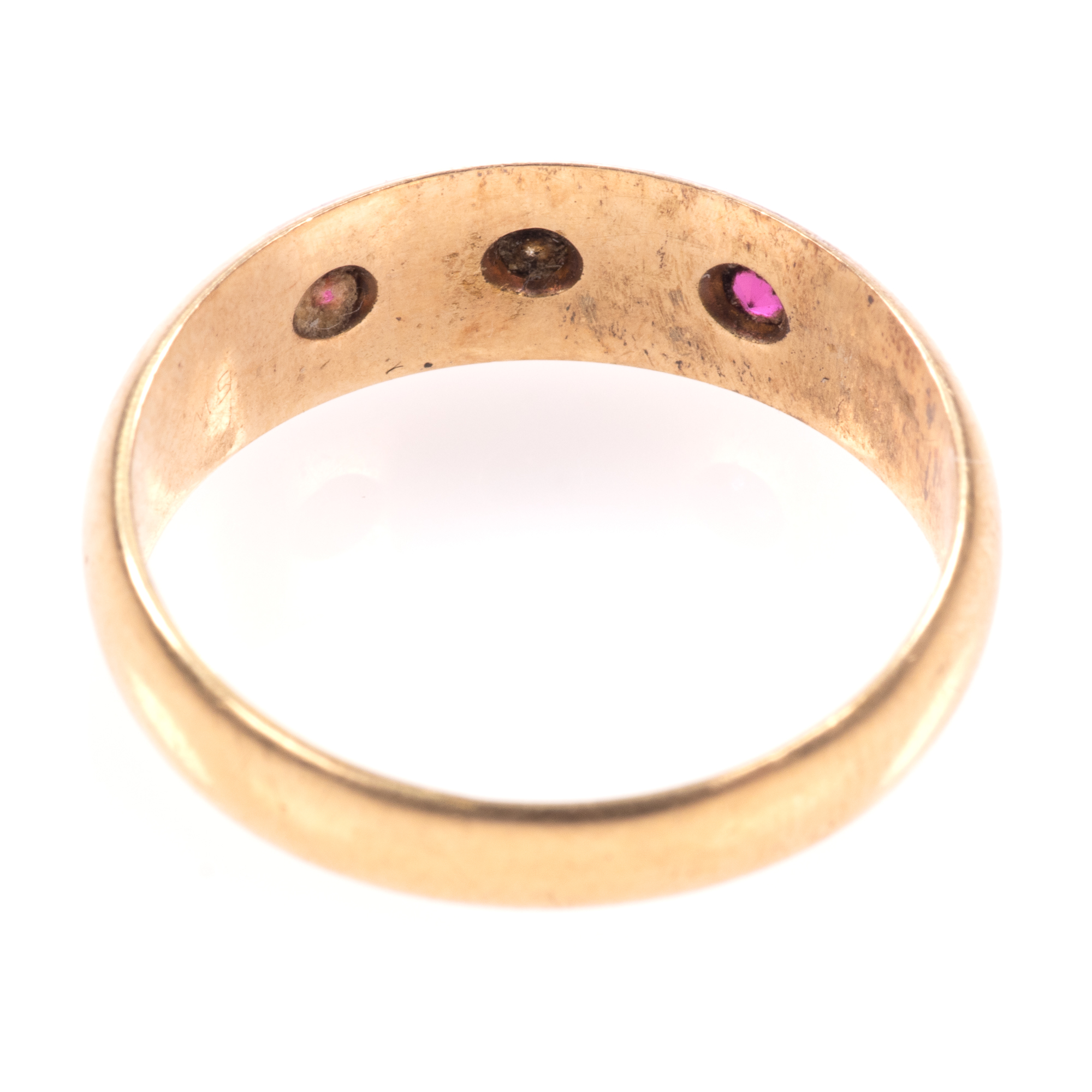 18ct Gold Edwardian Ruby & Diamond Ring Chester 1909 - Image 6 of 8