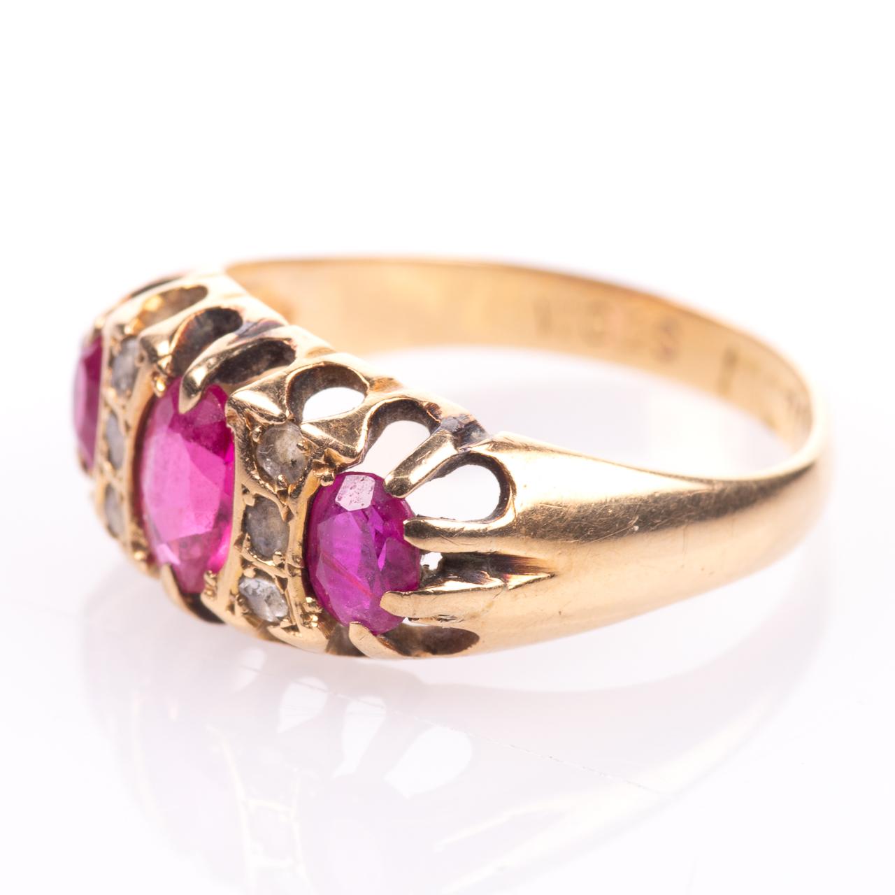18ct Gold 1.20ct Ruby & Diamond Ring Birmingham 1915 - Image 5 of 7