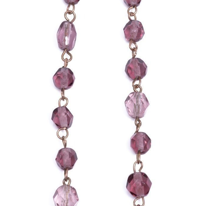 15ct Gold Amethyst Necklace - Image 3 of 5