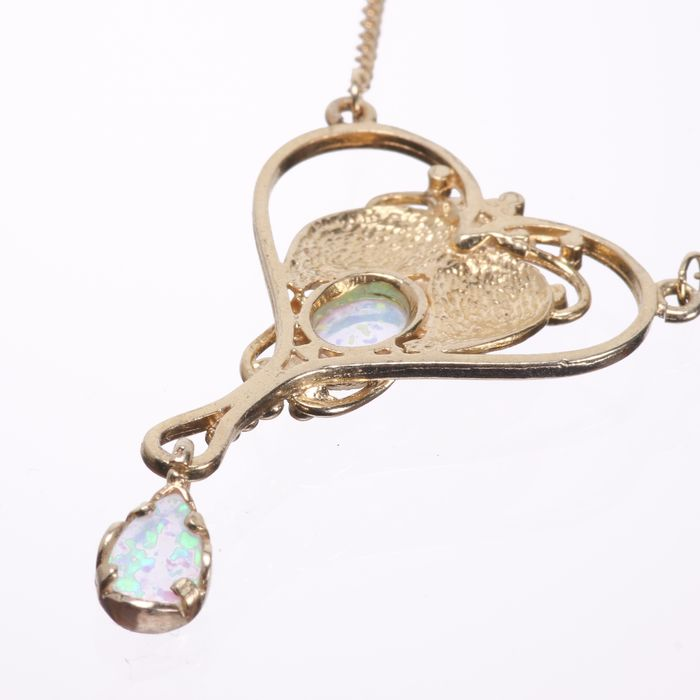 Gilded Opal Pendant Necklace - Image 3 of 4