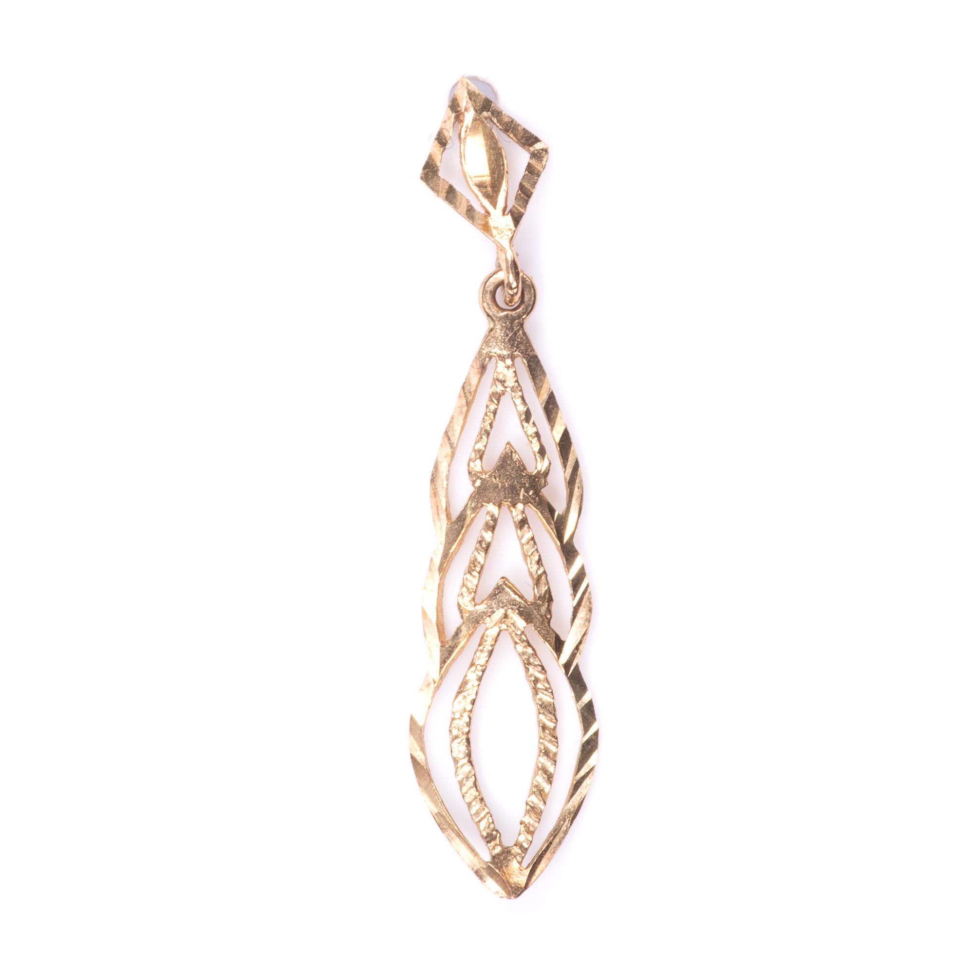 9ct Gold Filigree Earrings - Image 5 of 7