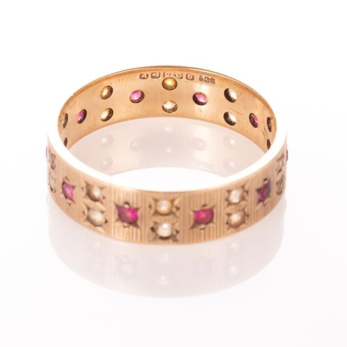 9ct Gold Art Deco Ruby Ring - Image 4 of 6