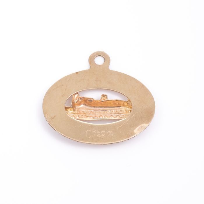14ct Gold Nautical Pendant Charm - Image 2 of 2