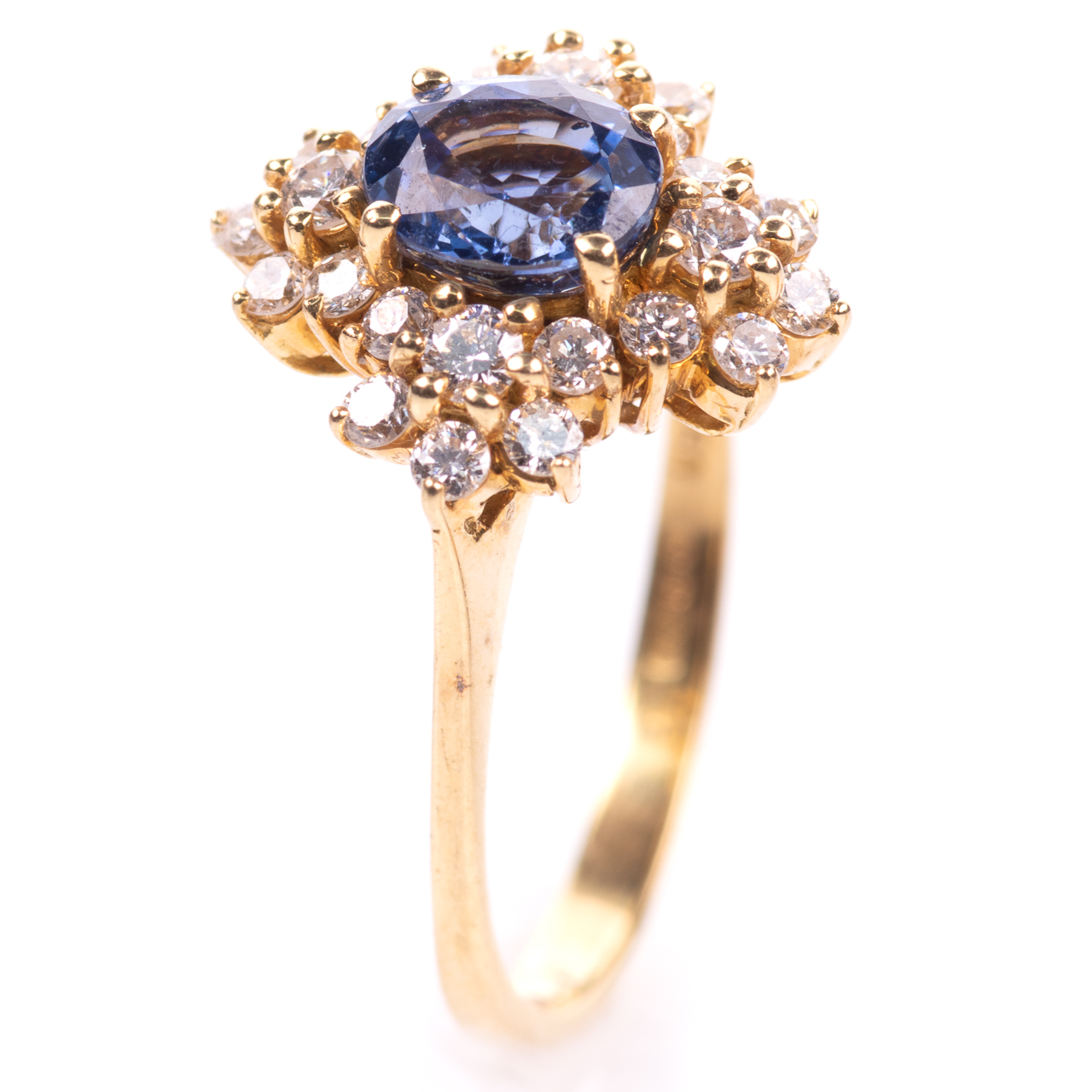 18ct Gold 1ct Sapphire & 0.70ct Diamond Ring - Image 2 of 8