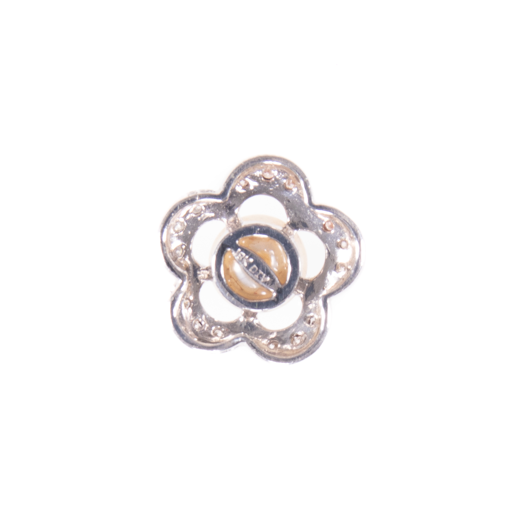 18ct White Gold Diamond & Pearl Floral Pendant - Image 5 of 6