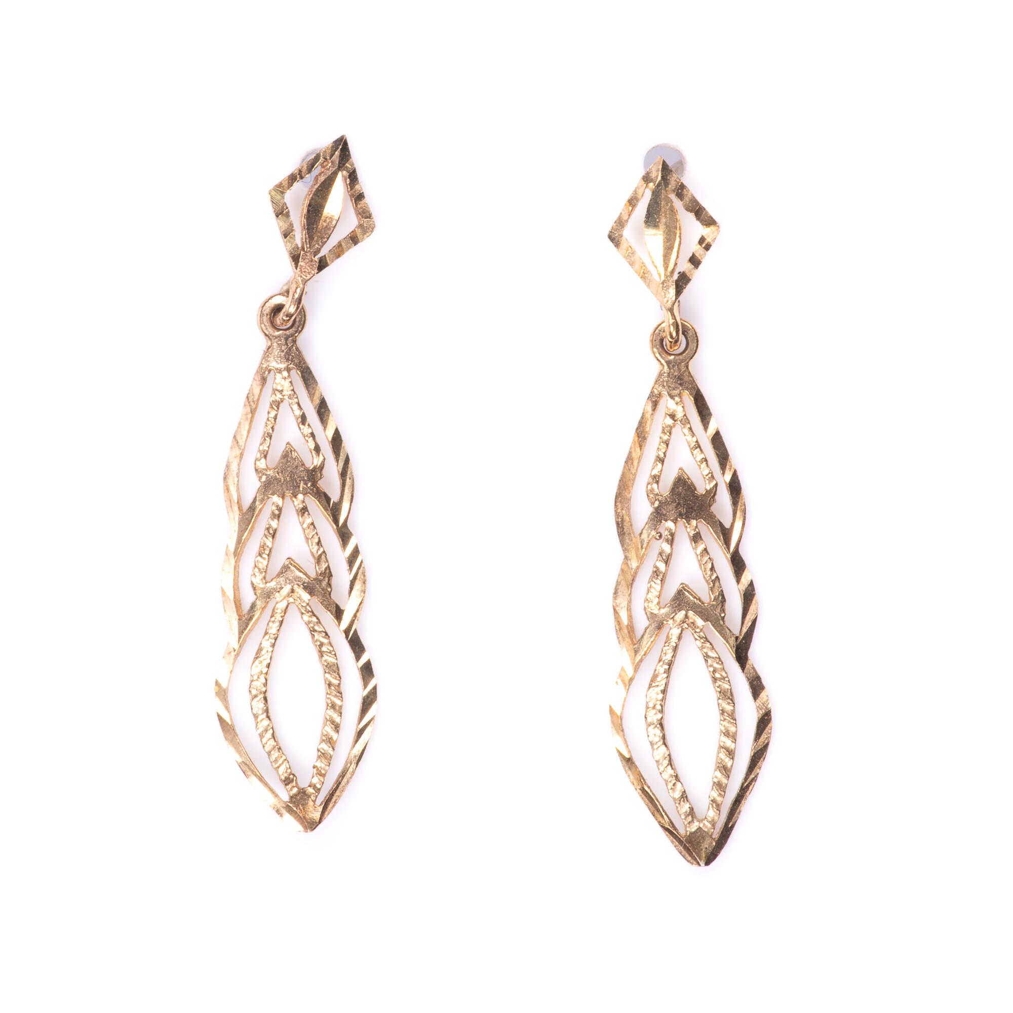9ct Gold Filigree Earrings - Image 3 of 7