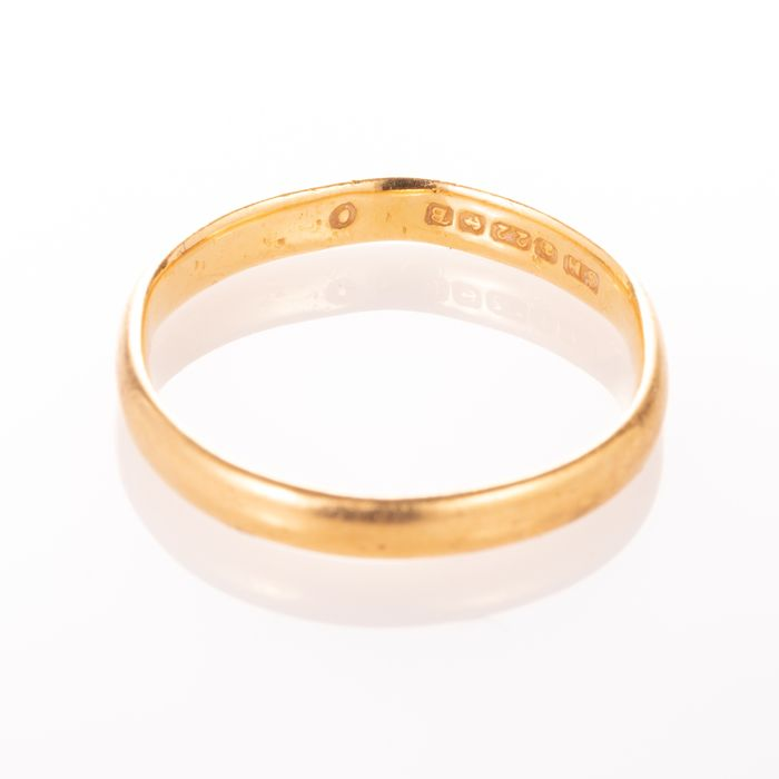 22ct Gold Wedding Band Ring Birmingham 1951