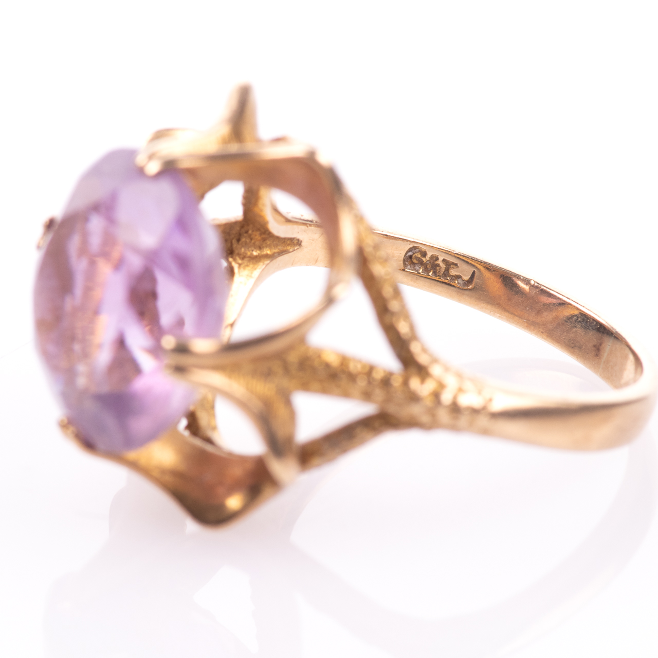 9ct Gold 6.45ct Amethyst Ring London 1974 - Image 5 of 8