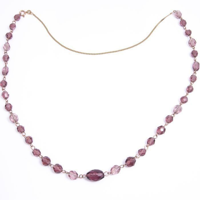 15ct Gold Amethyst Necklace