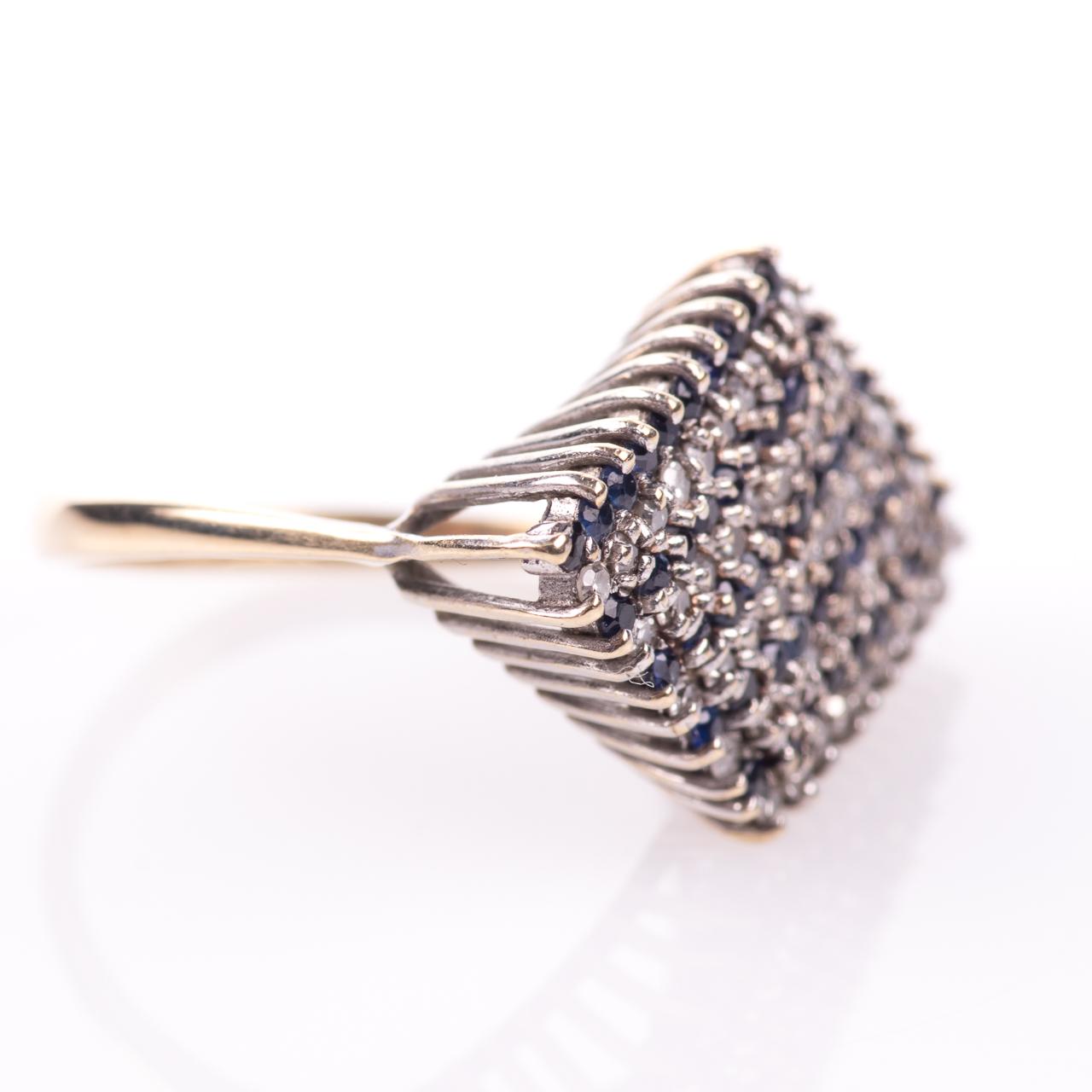 9ct Gold Sapphire & 0.50ct Diamond Ring Sheffield 1979 - Image 6 of 7