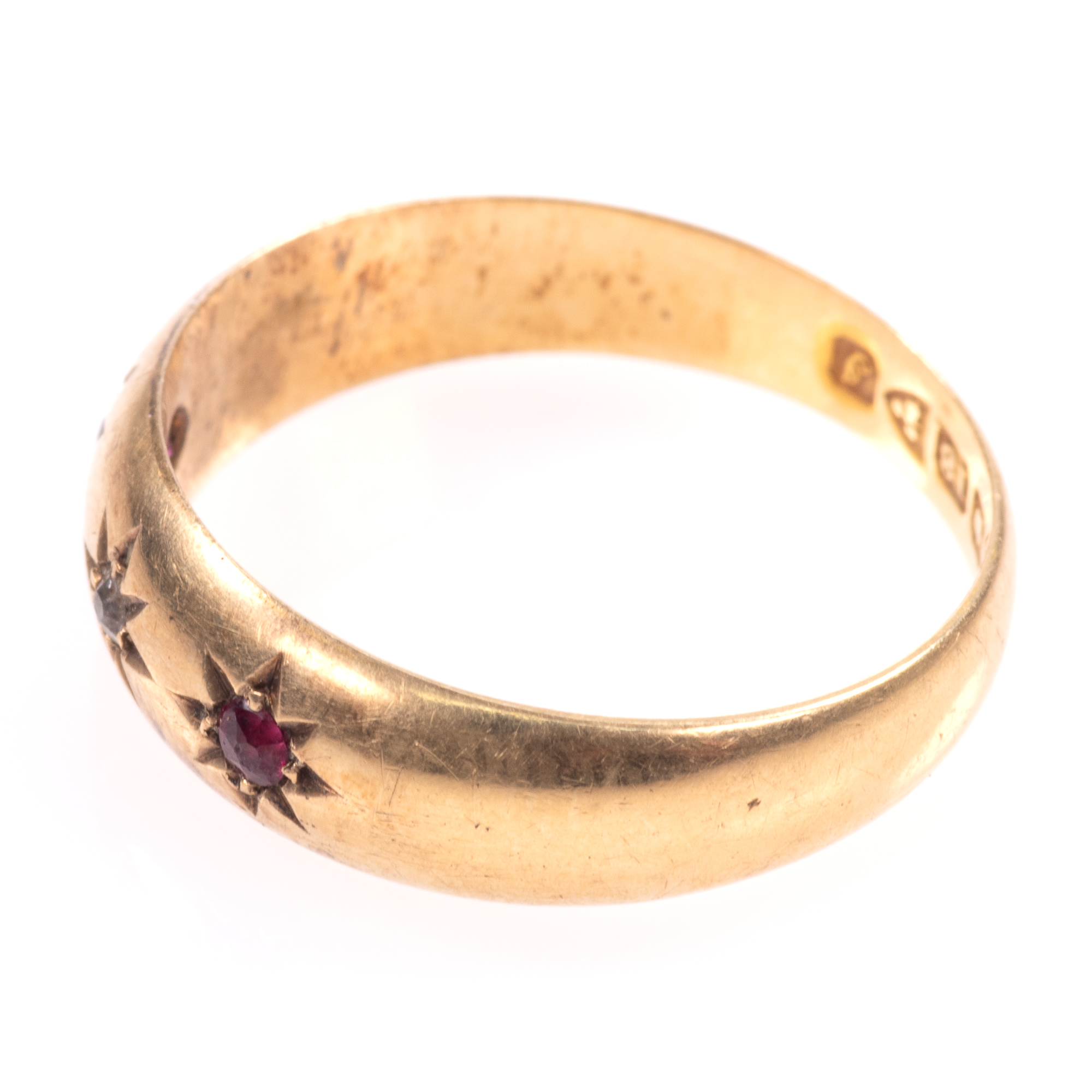 18ct Gold Edwardian Ruby & Diamond Ring Chester 1909 - Image 5 of 8
