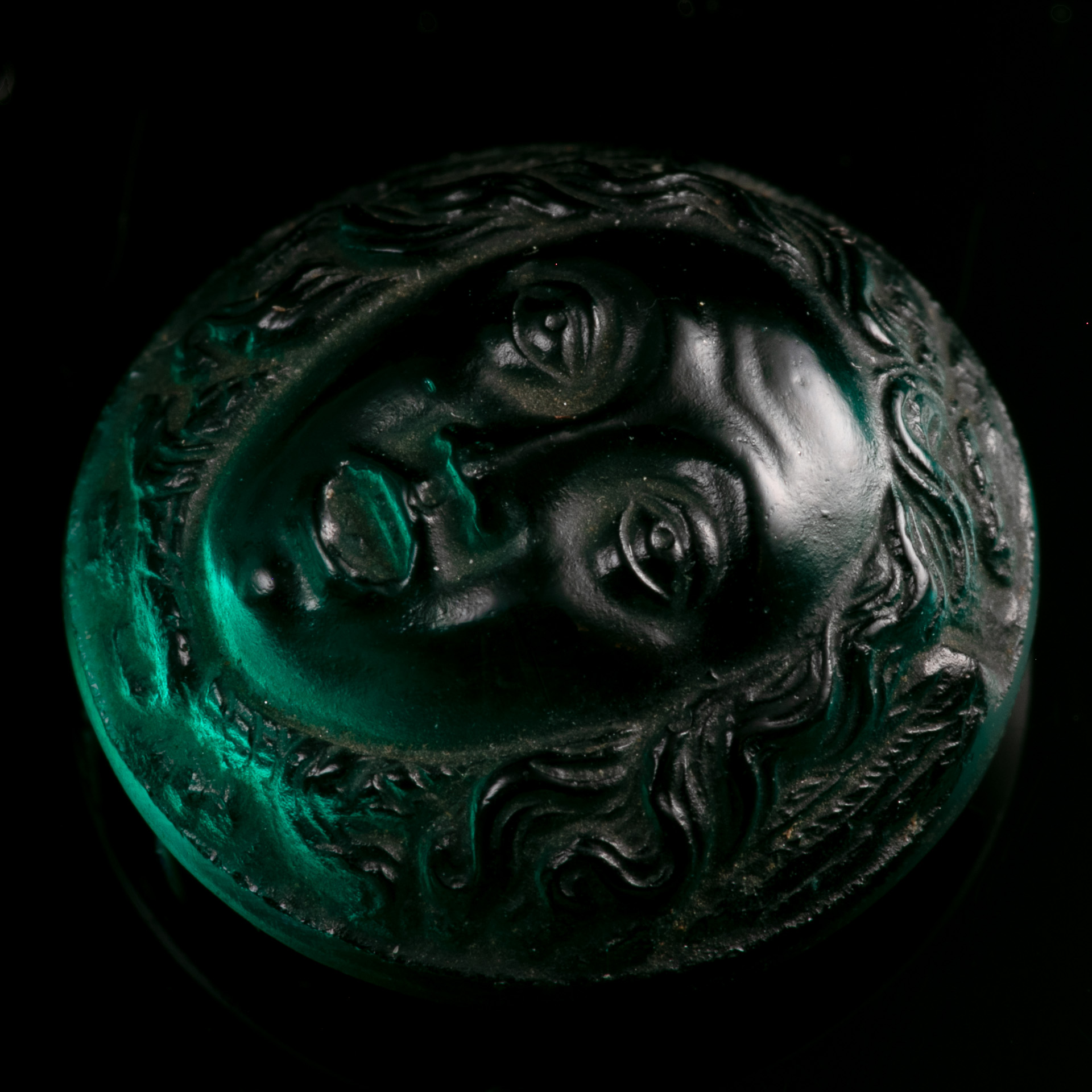 Roman Glass Cameo Depicting Medusa