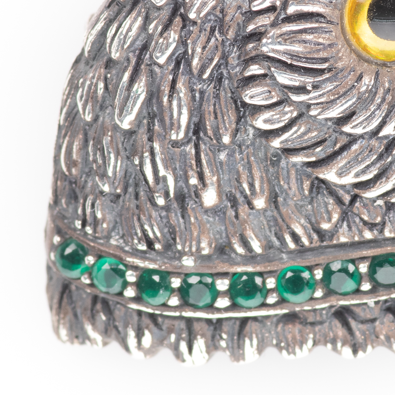 Silver Emerald Parrot Brooch - Image 3 of 6